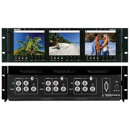 Marshall Triple Rack Mounted LCD Panels Composite Video SDI Inputs and Loop Through 61 - 417