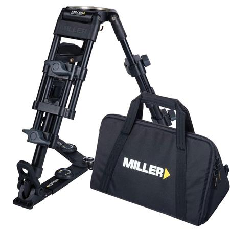 Miller Stage Alloy Baby Tripod Legs On Ground Spreader Bowl Case MaHeight Supports lbs 196 - 39