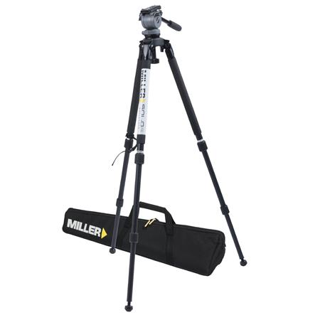 Miller System DS Solo DV Alloy System DS Fluid Head Solo DV Stage Alloy Tripod and Soft Case Support 154 - 596