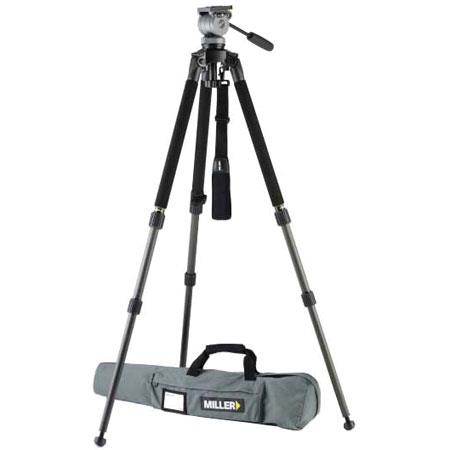 Miller System DS Fluid Head Solo DV stage Alloy Tripod Solo DV Soft Case Supports up to lb 99 - 666