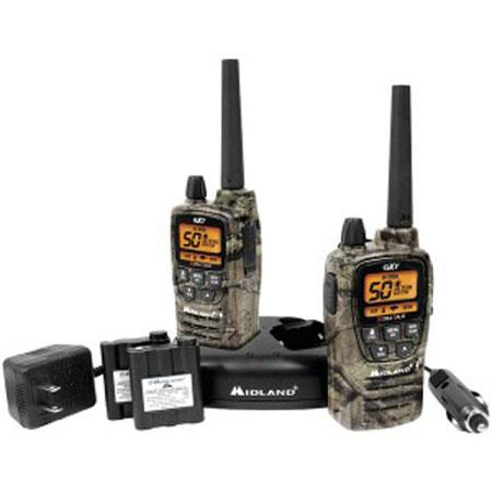 Midland Channel GMRS Two Way Radio Pair NOAA Weather Alert Mile Range Privacy Codes Camo 74 - 682