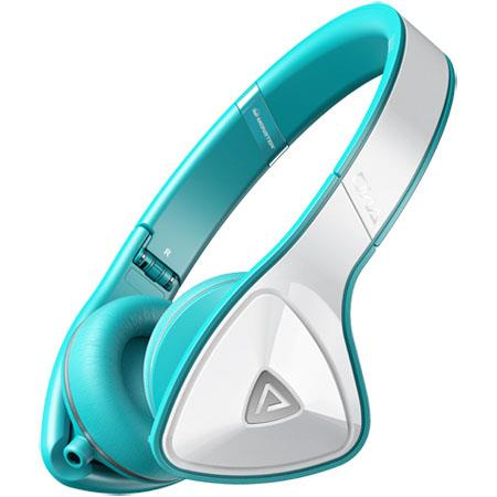 Monster DNA On Ear Headphones Over Teal 211 - 37