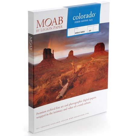 Moab Colorado Fiber Satin Textured Archival Inkjet Paper gsm milSheets 4 - 625