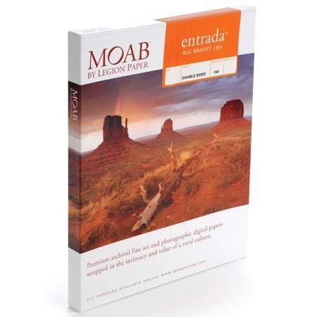 Moab Entrada Rag Fine Art Side Bright Matte Inkjet Paper mil gsmSheets 26 - 781