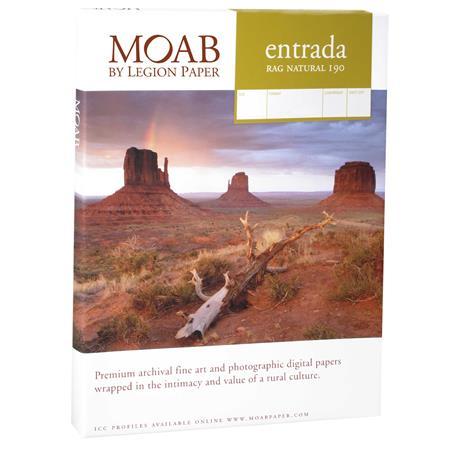 Moab Entrada Rag Fine Art Side Natural Matte Inkjet Paper mil gsmSheets 26 - 781
