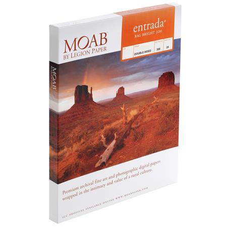 Moab Entrada Rag Fine Art Side Bright Matte Inkjet Paper mil gsm ASheets 26 - 781