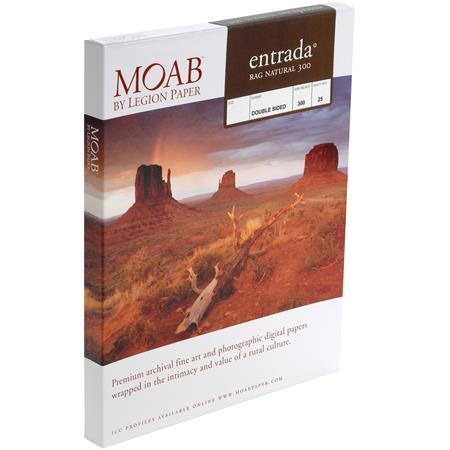Moab Entrada Rag Fine Art Side Natural Matte Inkjet Paper mil gsm ASheets 26 - 781