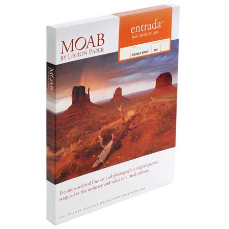 Moab Entrada Rag Fine Art Side Bright Matte Inkjet Paper mil gsmSheets 41 - 131