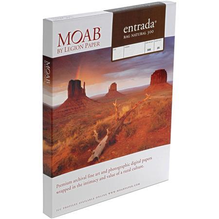 Moab Entrada Rag Fine Art Side Natural Matte Inkjet Paper mil gsmSheets 72 - 270