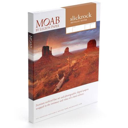 Moab Slickrock Metallic Silver A Paper Sheets gsm 145 - 775