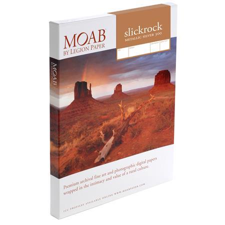 Moab Slickrock Metallic Silver A Paper Sheets gsm 162 - 376