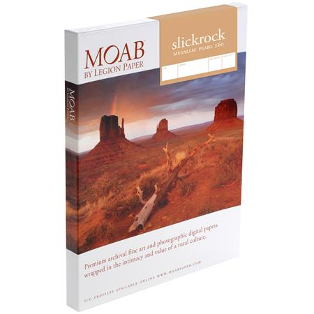 Moab Slickrock Metallic Pearl gsm Inkjet PaperA Resin Coated Sheets 33 - 480