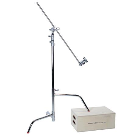 Matthews Hollywood Pro Century C Stand Kit Double Riser Stand Sliding Leg Grip Head Arm Supports lbs 81 - 103