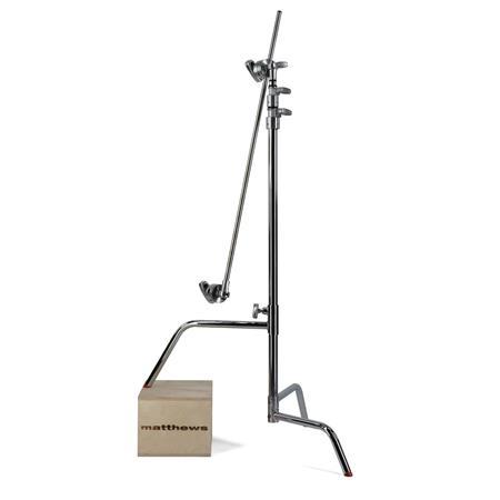 Matthews Century Stand Sliding Leg Grip Head Arm Maximum Height Supports lbs Chrome 30 - 645