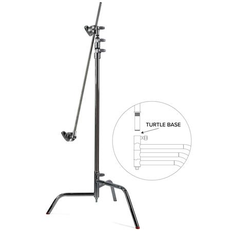 Matthews Hollywood C Stand Turtle Base Grip Head and Arm Maximum Height Supports lbs Chrome 124 - 270