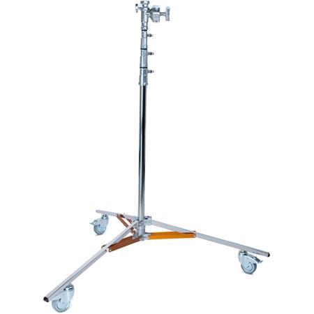Matthews Medium Overhead Roller Stand Supports lbs Maximum Height Chrome 258 - 497