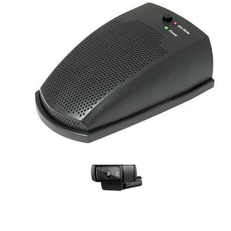 MXL AC uCHAT USB Desktop Communicator Mic Coverage BUNDLE Logitech C HD Pro Webcam 61 - 48