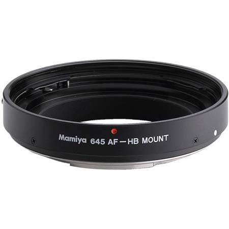Mamiya Lens Mount Adapter HBW Silver to use Hasselblad V series Medium Format Lenses on Mamiya AF Se 302 - 258
