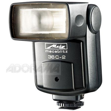 Metz Series C Auto Aperture Manual Shoe Mount Flash Non Dedicated Guide Number ISO  194 - 256