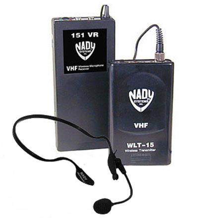 Nady VR HM Wireless Headset System VR Receiver WLT Headset Bodypack Transmitter HM Uni Condenser Mic 118 - 510
