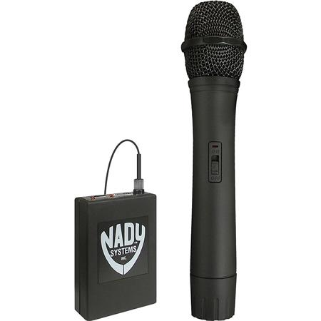 Nady Video Wireless Handheld System VR Receiver Uni Dynamic WHT Handheld Mic and Audio Cable 118 - 429