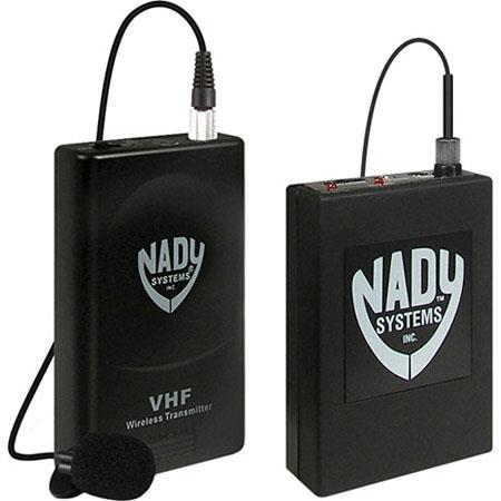 Nady VR VHF Wireless Lavalier Microphone System Camcorders Includes Receiver WLT Bodypack Transmitte 102 - 52