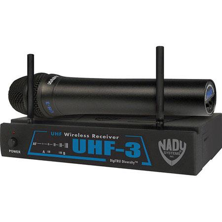 Nady UHF Handheld UHF Wireless Microphone System Includes Receiver Transmitter Antennas Power Supply 74 - 177