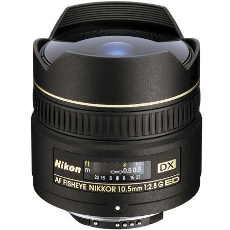 Nikon fG ED IF AF DX Fisheye Nikkor Lens FDSLR Cameras Grey Market 245 - 224