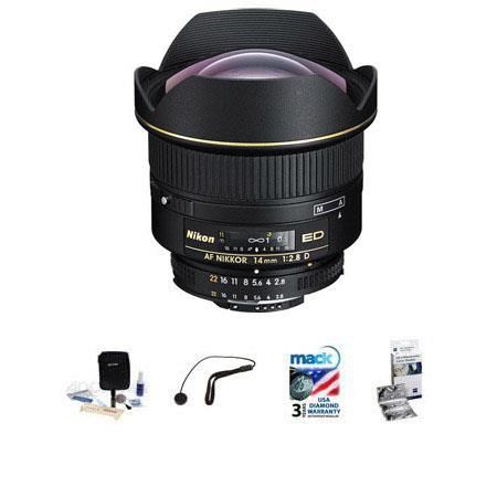 Nikon fD ED AF Nikkor Lens Nikon USA Warranty Bundle FleLens Shade New Leaf Year Drops Spills Warran 155 - 708