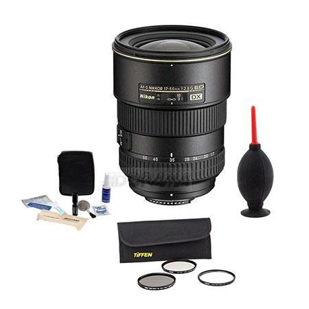 Nikon fG ED IF AF S DX Zoom Lens FDSLR Cameras Nikon USA Warranty Accessory Bundle Tiffen Wide Angle 294 - 601