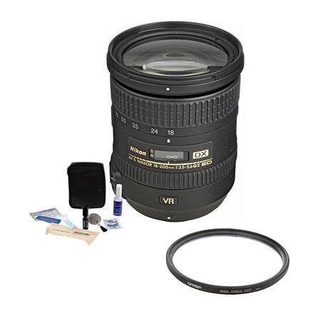 Nikon f G ED IF AF S DX VR Nikkor Lens Nikon USA Warranty Accessory Bundle Tiffen UV Wide Angle Filt 273 - 506