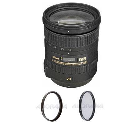 Nikon f G ED IF AF S DX VR Lens Nikon USA Warranty Free Filters Pro Circular Polarizer CPL Digital F 44 - 200
