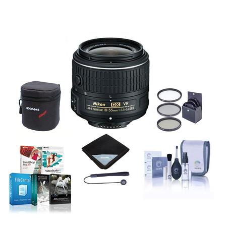 Nikon f G AF S DX VR Lens USA Bundle Pro Optic UV MC Filter Pro OpticLens Wrap Cleaning Kit Capleash 32 - 86