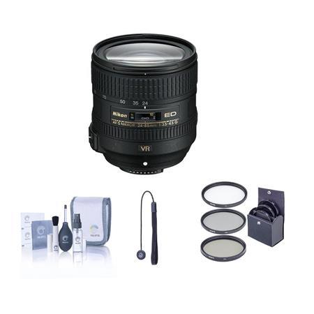 Nikon f G ED AF S VR Nikkor Lens Nikon USA Warranty Bundle Pro Optic MC UV Filter Lens Cleaning Kit  55 - 491