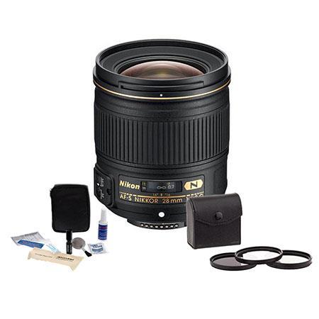 Nikon fG AF S Nikkor Lens USA Warranty Bundle Tiffen Photo Essentials Filter Kit UV CP Warming Adora 128 - 365