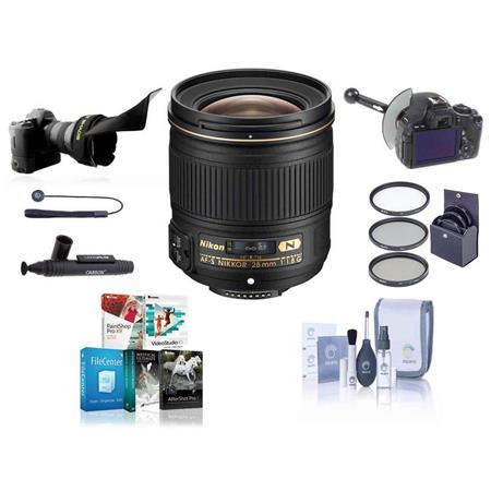Nikon fG AF S Nikkor Lens USA Warranty Bundle Tiffen Photo Essentials Filter Kit UV CP Warming New L 120 - 117