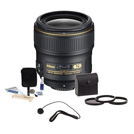 Nikon fG AF S ED Nikkor Lens Kit Nikon USA Warranty Accessory Bundle Tiffen Photo Essentials Filter  163 - 90