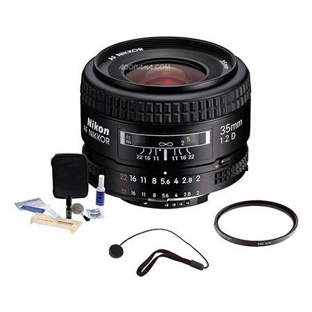 Nikon fD AF Nikkor Lens Grey Market Accessory Bundle Tiffen UV Glass Filter Lens Cap Leash Digital C 306 - 120