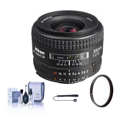Nikon fD AF Nikkor Lens USA Warranty Accessory Bundle Tiffen UV Glass Filter Lens Cap Leash Digital  291 - 23
