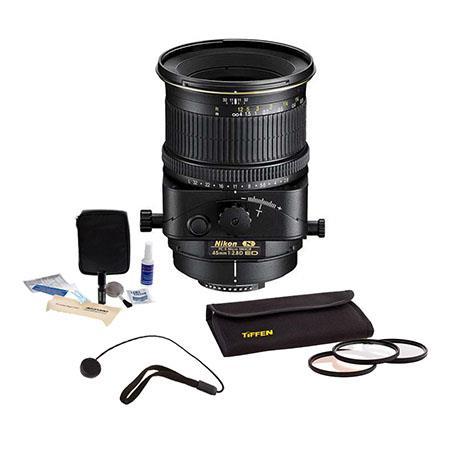 Nikon f Perspective Control E Nikkor MF Lens Nikon USA Warranty Accessory Bundle Tiffen Photo Essent 61 - 417