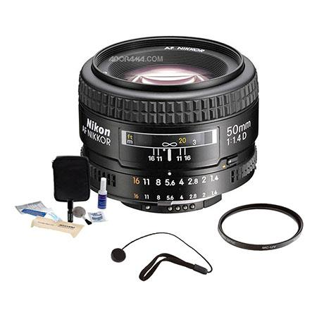Nikon fD AF Nikkor Lens Grey Market Accessory Bundle Tiffen UV Filter Lens Cap Leash Digital Camera  133 - 629