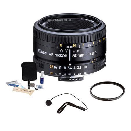 Nikon fD AF Nikkor Lens Grey Market Accessory Bundle Tiffen UV Filter Lens Cap Leash Digital Camera  258 - 354