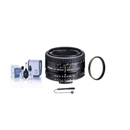 Nikon fD AF Nikkor Lens Nikon USA Warranty Accessory Bundle Tiffen UV Filter Lens Cap Leash Digital  147 - 401