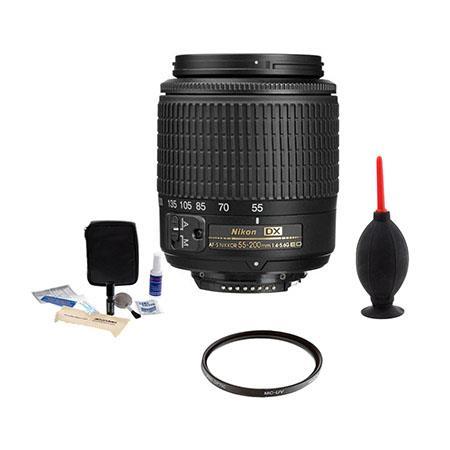 Nikon f G ED AF S DX Autofocus Lens Nikon USA Warranty Accessory Bundle Tiffen UV Filter Professiona 231 - 60
