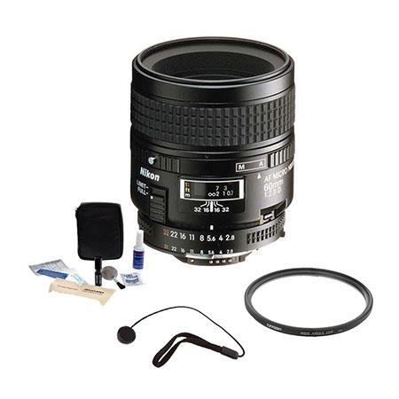 Nikon fD AF Nikkor Lens Kit Nikon USA Warranty Accessory Bundle Tiffen UV Filter Lens Cap Leash Prof 104 - 361