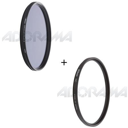 Nikon Filter Set NC Neutral Clear Filter and Circular Polarizer Thin Ring Multi Coated Filter 92 - 379
