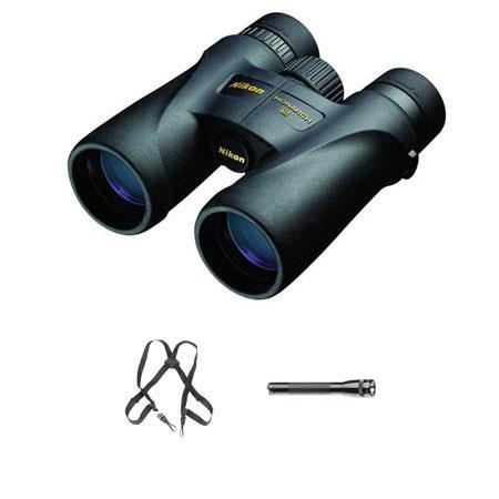 NikonMonarch Water Proof Roof Prism Binocular Bundle Free Binocular Harness and Maglite Mini Flashli 49 - 84