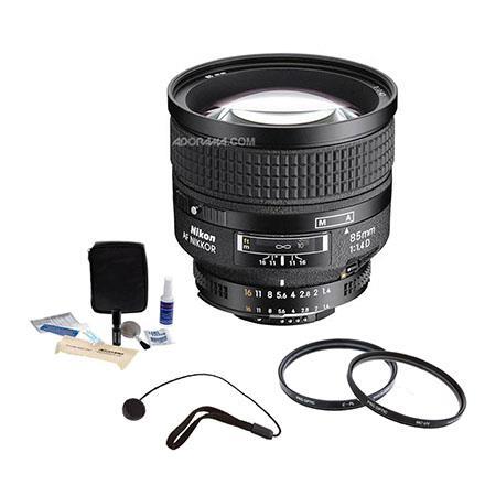 Nikon fD IF AF Telephoto Nikkor Lens Hood Grey Market Bundle Pro Optic Pro Digital Multi Coated UV F 19 - 282