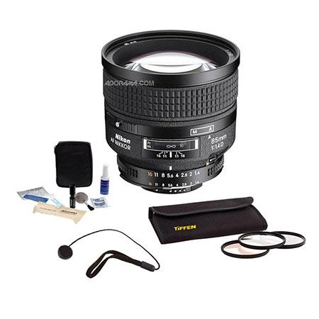 Nikon fD IF AF Telephoto Nikkor Lens Hood Nikon USA Warranty Accessory Bundle Tiffen Photo Essential 59 - 746