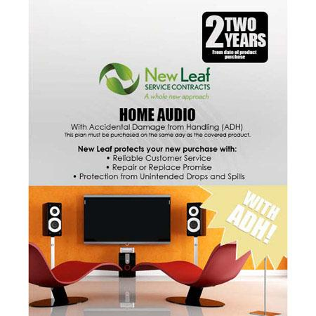 New Leaf PLUS Year Home Audio Service Plan Accidental Damage Coverage for Drops Spills Products Reta 249 - 464